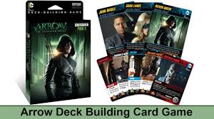 arrow card game cryptozoic dc comics deck building game