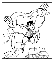 Superman Coloring Pages 6