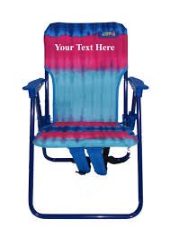 Telescope Beach Chairs With Cup Holder by Imprinted Personalized Kids Folding Backpack Beach Chair