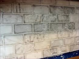 Carrara Marble Tile Backsplash by Kitchen Room Amazing Carrera Subway Tile Backsplash Grouting