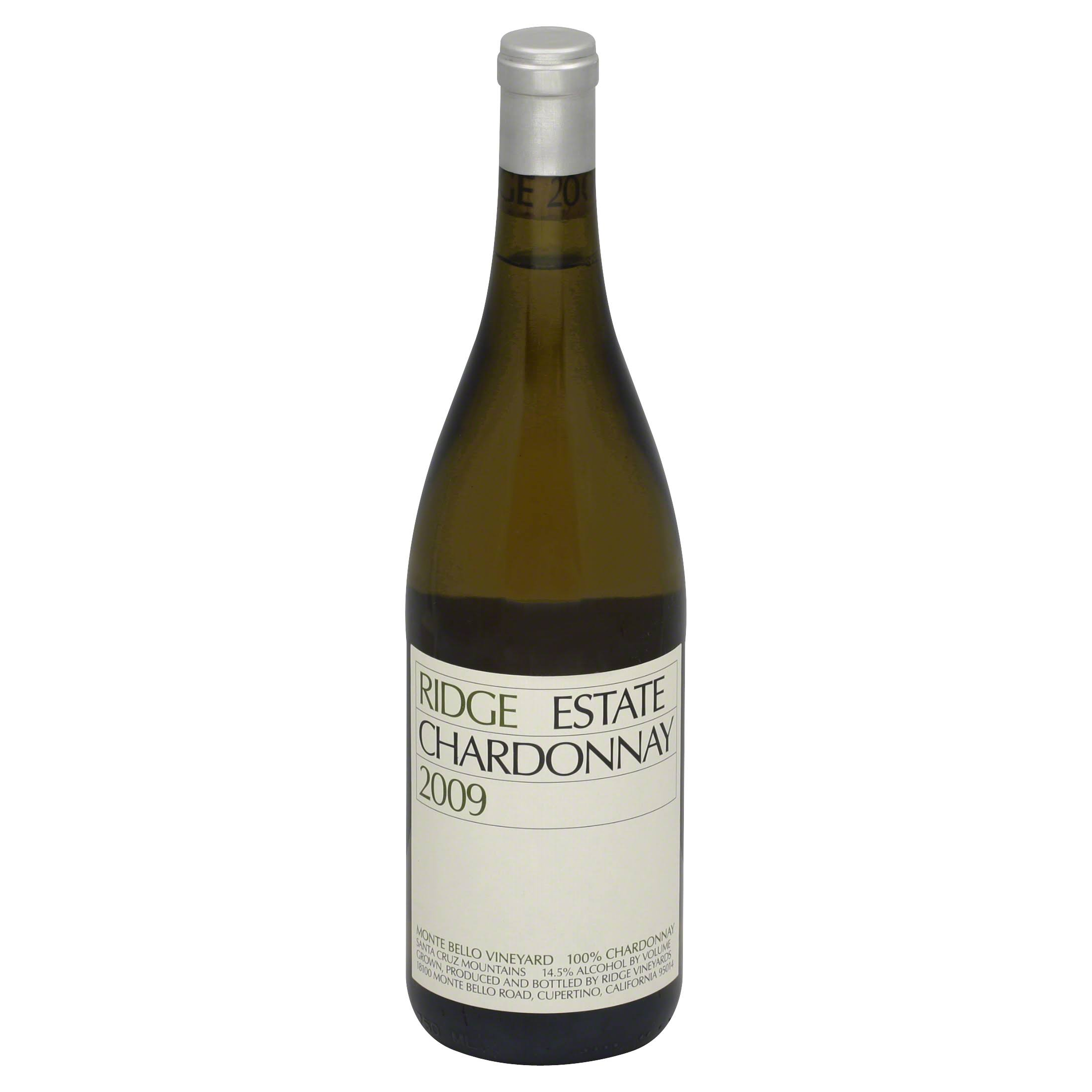 Ridge Chardonnay, Estate, Monte Bello Vineyard, Santa Cruz Mountains, 2009 - 750 ml