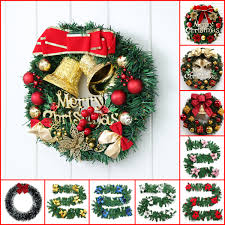 Christmas Wreath Ornament Decoration Window Door Hanging Wall Tree