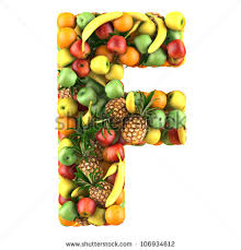 Fruit Letters Stock Royalty Free & Vectors