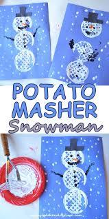 Potato Masher Snowman Craft For Kids DIY Fun Activity