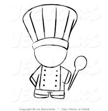 Vector Of Chef Holding A Mixing Spoon