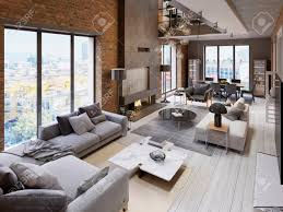 100 What Is A Loft Style Apartment Large Modern Loftstyle Apartment With Sofas Armchair Fireplace