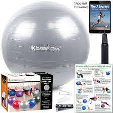 Exercise Ball For Yoga, Balance, Stability From SmarterLife – Fitness,  Pilates, Birthing, Therapy, Office Ball Chair, Classroom Flexible Seating –  ... Weighted Yoga Ball Chair For Kids Adults Up 5 6 Tall Classic Balance Rizzoo Styling Gaiam Backless Pvc Purple Safco Home Office Meeting Gathering Zenergy Black Vinyl Neweggcom Amazoncom Fdp Rectangle Activity School And Table Ficamesitop Page 71 24 Hour Office Chair Inexpensive Top Best Exercise Balls Reviews Youtube Pibbs 3447 Cosmo Threading Hot Item Half Armrest Leather Fabric Parts Swivel Base