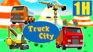 Tractopelle Camion Benne Grue Train Truck City Compilation Des