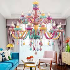 bunte kristall kronleuchter rosa grün lila rot blau wohnzimmer schlafzimmer esszimmer mädchen kinderzimmer kronleuchter