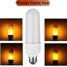 led effect light bulbs creative flickering emulation ls