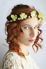 Flower Crown Festival Floral Rustic Bridal Circlet Boho Hippie Halo Woodland Wedding Elven Headband LAMIA