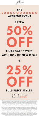 J.Crew Coupons - 50% Off Clearance & More At J.Crew, Or ... Coupon Code For J Crew Factory Store Online Food Coupons Uk Teaching Mens Fashion Promo Jcrew Amazon Cell Phone Sale Jcrew Fall Email Subject Line Dont Forget To Shop 25 Extra Off Orders Over 100 J Crew Factory Jcrew Boys Tshirts From Only 8 Free Shipping Kollel Coupon Wwwcarrentalscom Ethos Watches Hood Milk 2018 9 Things You Should Know About The Honey Plugin Gigworkercom 50 Off Up Grabs Expires Today Code Mfs Saving Money Was Never This Easy