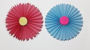How To Make Easy Paper Rosettes Flower Handmade Flowers Step By Craft Tutorials