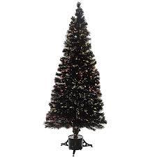 Black Fiber Optic Christmas Tree 7ft by Werchristmas 7 Ft Pre Lit Fibre Optic Christmas Tree White Black