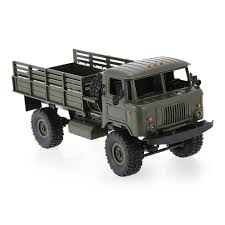 100 Rc Army Trucks WPL B24 RC Car KIT Green