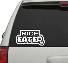 Rice Eater JDM Car Truck Window Windshield Lettering Decal Sticker ... Business Signs Vehicle Wraps Car Boat Marine Vinyl Installers Rc Truck Racing Police 911 Chevy Caprice Car Decals I Love Sushi Funny Window Windshield From Amazon My Hugo Estrada Google Zombies Decalzombie Decal Stickers Fender Stripes Graphics Race Cars Boats 2 Flames 8 Custom Auto Stick 3d Frog Car Stickers Sticker Great Deals On Truckers Wife And Amazoncom Decalgeek Heart With Dog Paw Puppy Catherine M Johnson Homes How To Make Food Truck Sticker Lorry Wrapping