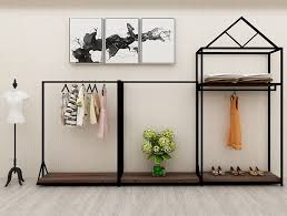 Professional Retail Clothing Display Units Steel Shelves For Women Store