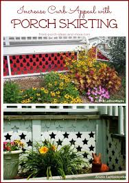 Metal Deck Skirting Ideas by Porch Skirting Vinyl Lattice Panels Porch Landscaping