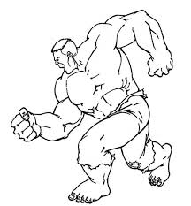 Hulk Coloring Pages Free Printable