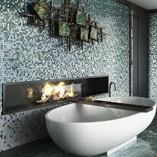 mosaic wall and design elements even the space of relax can