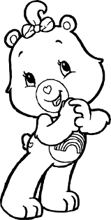 Happy Care Bears Adventures In A Lot Coloring Page