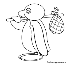 Printable Cartoon Pingu Coloring Pages