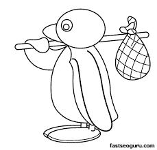 Printable Cartoon Pingu Coloring Pages