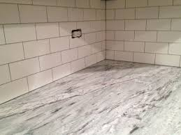 limestone subway tile backsplash home design ideas