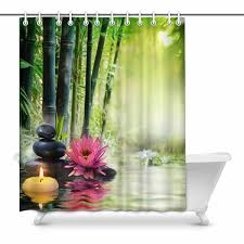 POP Massage In Nature Zen Concept Prints Shower Curtain For