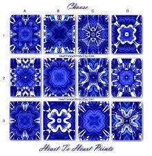 blue wall art royal blue wall decor cobalt blue white floral art