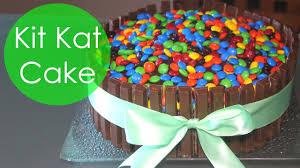 Cake Decoration Ideas With Gems by Kit Kat Cake With M U0026m U0027s Youtube