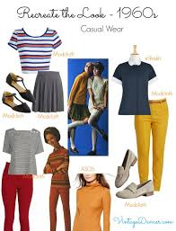 1960s Style Clothing Casual Relaxed Looks With Simple Colorful Pants And Tops Comfy