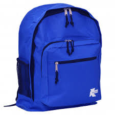 K Cliffs Unisex Royal Blue Zipper Compartments Side Mesh Pockets Backpack