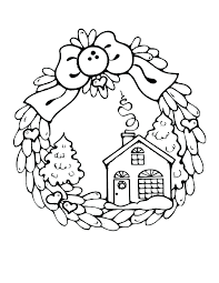 Gingerbread House Coloring Pages Pdf Houses Candy Page Tree Printable Pinterest Full Size