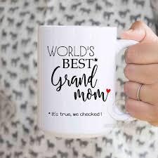 Worlds Best Grand Mom Funny Mug Grandma Birthday Gift Mothers Day