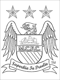 Logo Of Manchester City Football Team This Coloring Page