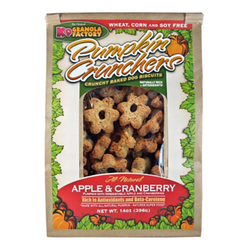 K9 Granola Factory Pumpkin Crunchers Dog Treats - Apple and Cranberry, 14oz