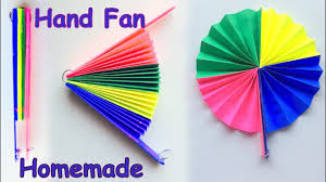 DIY Homemade Paper Hand Fan Best Out Of Waste Kids Craft Idea Handmade Crafts Ideas Step