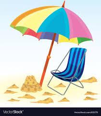Beach Umbrella Chair Vector Image