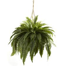 3ft Christmas Tree by 29 Inch Silk Indoor Double Giant Boston Fern Hanging Basket 6788
