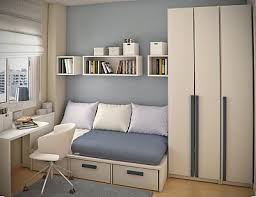 Inspiration Decorate Small Bedroom Designs Space In Your By Using A Bed Box Drawers Beneath For Storage And Hanging Shelves