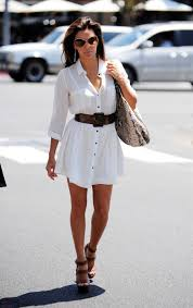 easy summer look white shirt dress with a belt my style