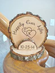 Cake Topper Personalized Rustic Wedding Romantic Country Wood Burned