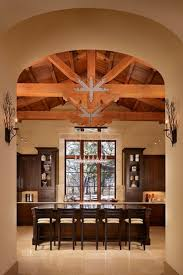 Track Lighting For Cathedral Ceilings by Kitchen Rustic Kitchen Green Cathedral Ceiling U Shaped Kitchen