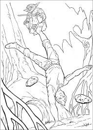 Training By Master Yoda Coloring Page