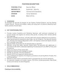 Security Guard Resume Objective Fresh Armed Sample Nmdnconference Example