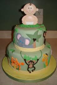 Safari Cakes Decoration Ideas Elegant Safari Baby Shower Cakes