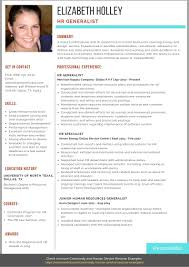 HR Generalist Resume Example