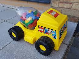 100 Lego Cement Truck Very Rare Vintage Duplo Mixer Storage Including