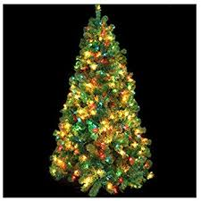 5 Ft Pre Lit Multicolor Christmas Tree by Amazon Com Portland Fir Tree 6 5 Feet 450 Multi Color Lights